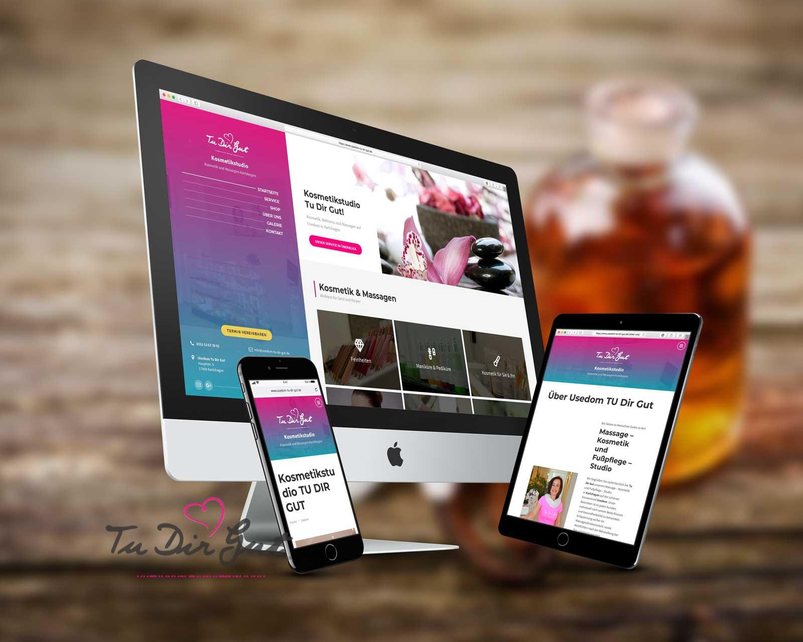 Webdesign Kosmetikstudio Usedom